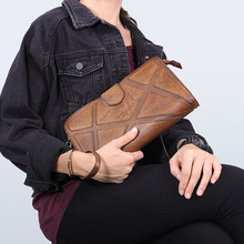Retro fashion designer first layer cowhide men and women stitching clutch bag daily weekend real leather shoulder messenger bag