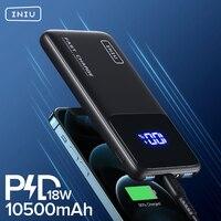 INIU PD 18W Power Bank 10500mAh Fast Charging Portable Charger Powerbank External Battery Pack For iPhone 12 11 Xiaomi 10 Huawei