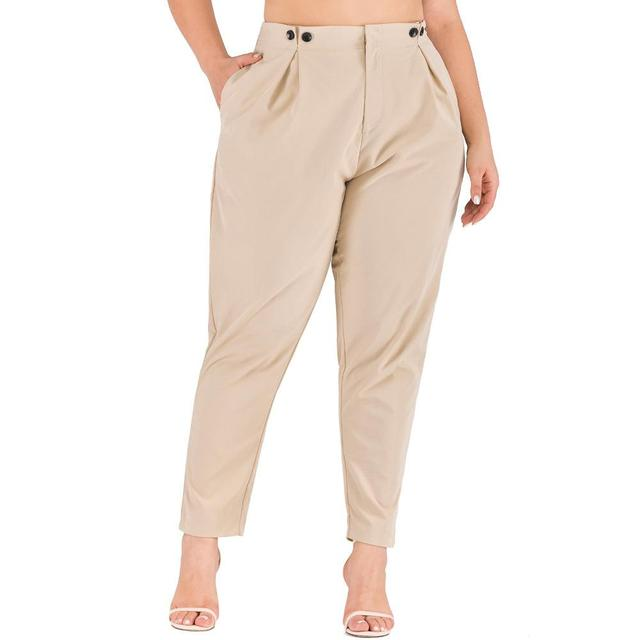 XL-4XL 2020 Spring Plus size Women Harem Pants Casual Summer Office Ladies Trousers Large Size Female High Wiast Khaki Work Pant 19