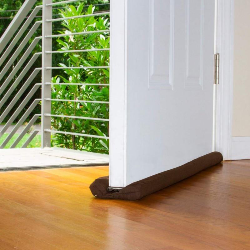 Double Guard Stopper Twin Door Decor Protector Doorstop Draft Dodger Energy Saving Home