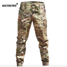 2019 Military Men's Tactical Cargo Long Pants Men Camouflage Sport Trousers Male Jogger Multi Pockets Hip Hop Slim Fit Pants NEW