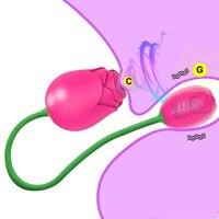 Vibratori ventosa clitoride rosa per donne potente stimolatore del clitoride vuoto succhiare amore femminile uovo vibrante giocattolo del sesso per adulti 18