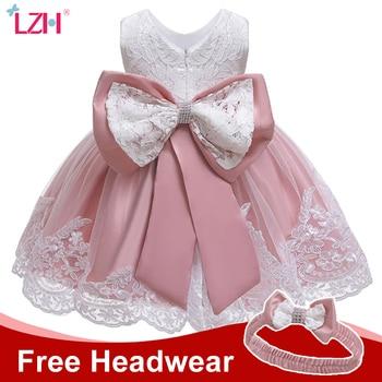 LZH Winter Baby Girls Dress Newborn Lace Princess Dresses For Baby 1st Year Birthday Dress Halloween Costume Infant Party Dress