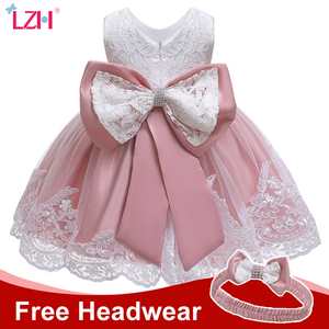 Winter Baby Girls Dress Newborn Baby Lace Princess Dress For Baby 2 1st Year Birthday Dress Halloween Costume Infant Party Dress(China)