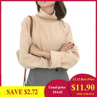 Ccibuy11 femmes pull col roulé tricoté pulls pour femmes chandail décontracté ample à manches longues au crochet pulls Streetwear
