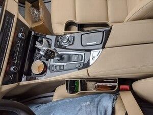 Image 4 - Caja de almacenamiento organizador de coche para espacio de asiento PU Case bolsillo hendidura lateral de coche para billetera teléfono monedas llaves de cigarrillos, soporte para tarjetas Universal