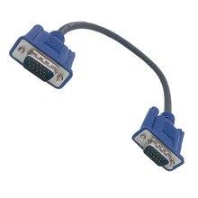 25cm 0.25m HD15Pin VGA d sub court câble vidéo cordon mâle à mâle M/M mâle à femelle et femelle à femelle câble RGB pour moniteur