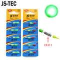 5/10pcs High Brightness Fishing Float LED Glowing Light Waterproof Electric Light Stick CR311 Battery Light Two Colours A051
