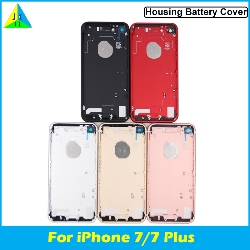 TOP Quality Housing Case For IPhone 7 Battery Cover Middle Frame Replacement Back Housing For Iphone 7 Plus With Logo