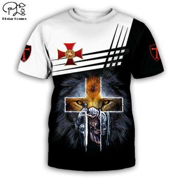 Men for women t shirt Knights Templar Lion printed hip hop Fashion Short sleeve shirt summer Unisex tshirt tops post malone hip hop t shirt o neck short sleeves summer casual fashion unisex men and women tshirt