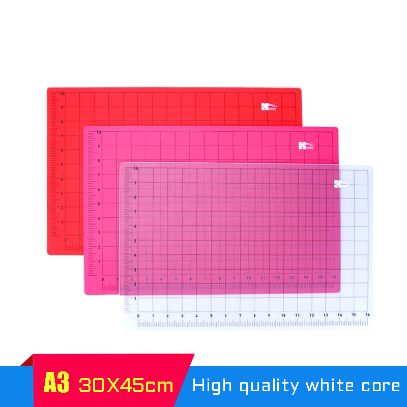 A3 Color Cutting Pad Pvc Green Cutting Patchwork Pad Diy Manual Pad Automatic Healing Self-healing Cutting Board Model Pad