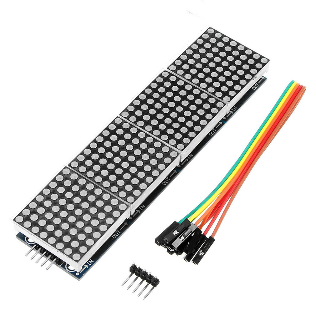 Max7219 Dot Matrix Module Controls Mcu Module 4 In One Display Send 5P Line Max Control Dot Matrix Module