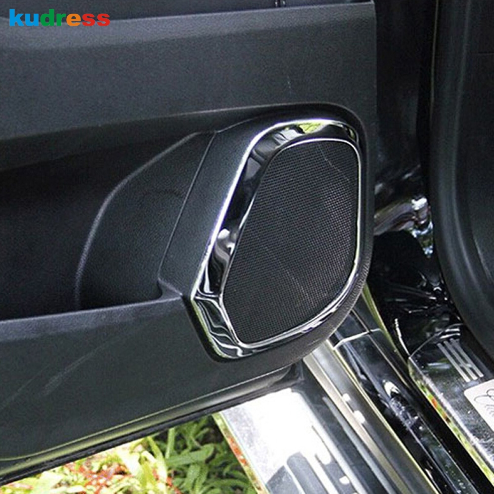 For Cadillac SRX 2010-2016 Stainless Steel Interior Side Door Speaker Cover Trim
