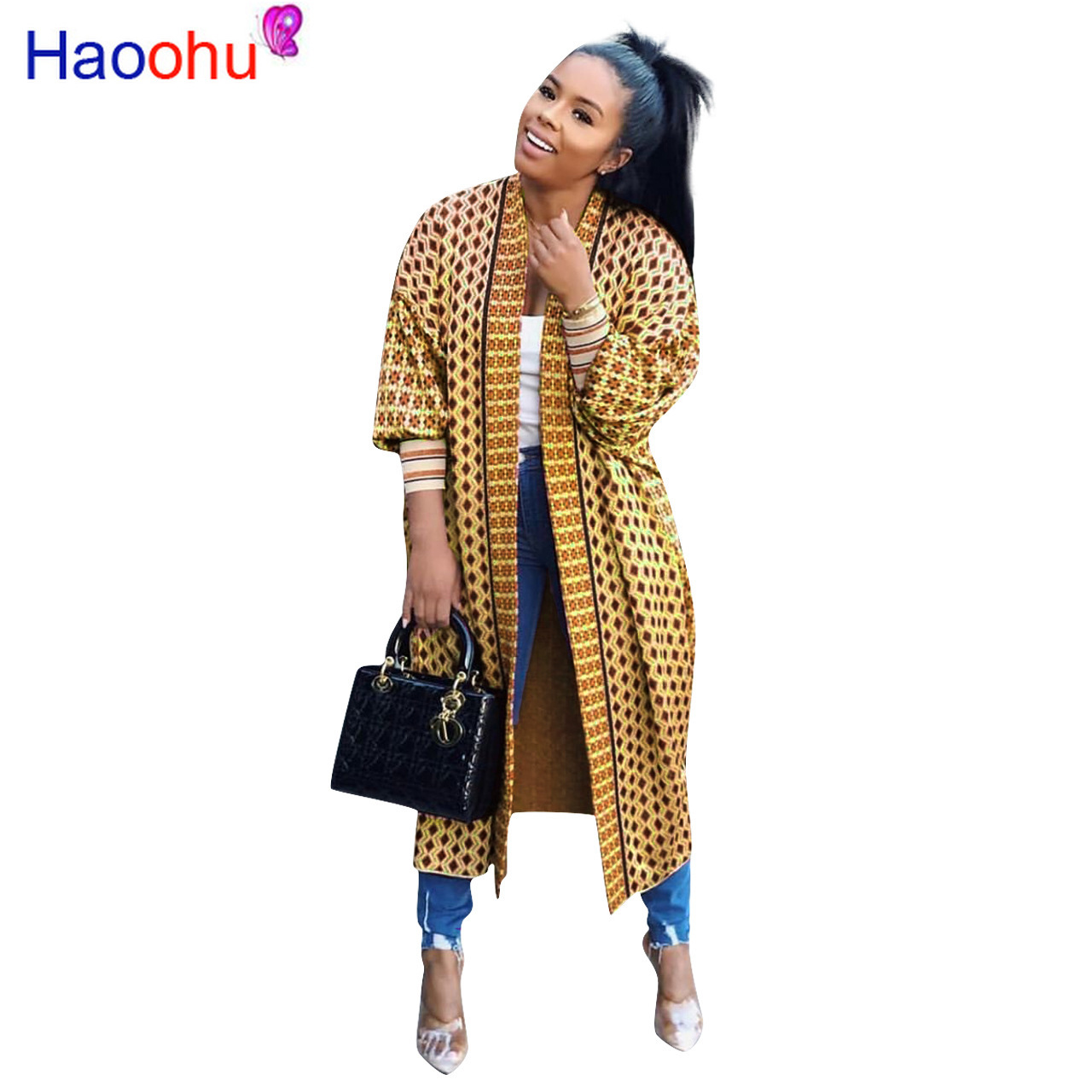 Autumn Winter cloak Poncho Plaid Print Full sleeve women Maxi Long coat outerwear   Trench   vintage Cardigan overcoat