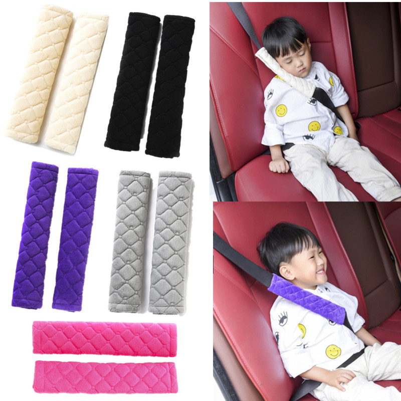 Children Car Safety Seats Belts Baby Seatbelt Pads Cover Seat Belt Shoulder Cushion Pad Protection Support Harness Pad For Kids