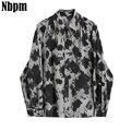 Женская блузка с длинным рукавом, винтажная Свободная Повседневная рубашка с отложным воротником, в Корейском стиле, в стиле Харадзюку, осе...