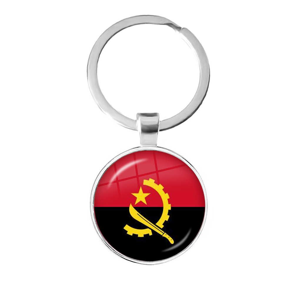Nước Pháp Ba Lan Puerto Rico Montenegro Trung Quốc Angola Senegal Philippines Kính Nhật Bản Cabochon Quốc Kỳ Móc Khóa Móc Khóa Quà Tặng