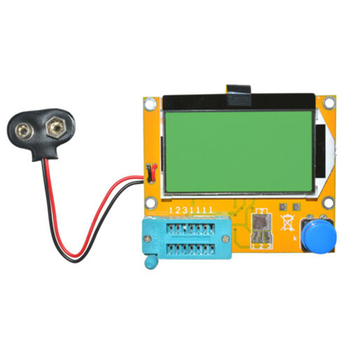 LCR-T4 ESR Meter Transistor Tester Diode Triode Capacitance SCR Inductance Automatic Shutdown LCD Display 1 8inch transistor tester colorful display multi functional tft backlight for diode triode capacitor resistor transistor lcr esr