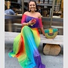 ชุดแอฟริกันสำหรับผู้หญิงDashikiฤดูร้อนPlusขนาดชุดสุภาพสตรีแบบดั้งเดิมแอฟริกันเสื้อผ้าFairy Dreaes