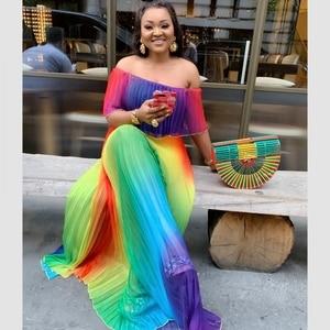 Image 1 - فساتين الأفريقية للنساء Dashiki الصيف حجم كبير فستان السيدات الملابس الأفريقية التقليدية الجنية Dreaes