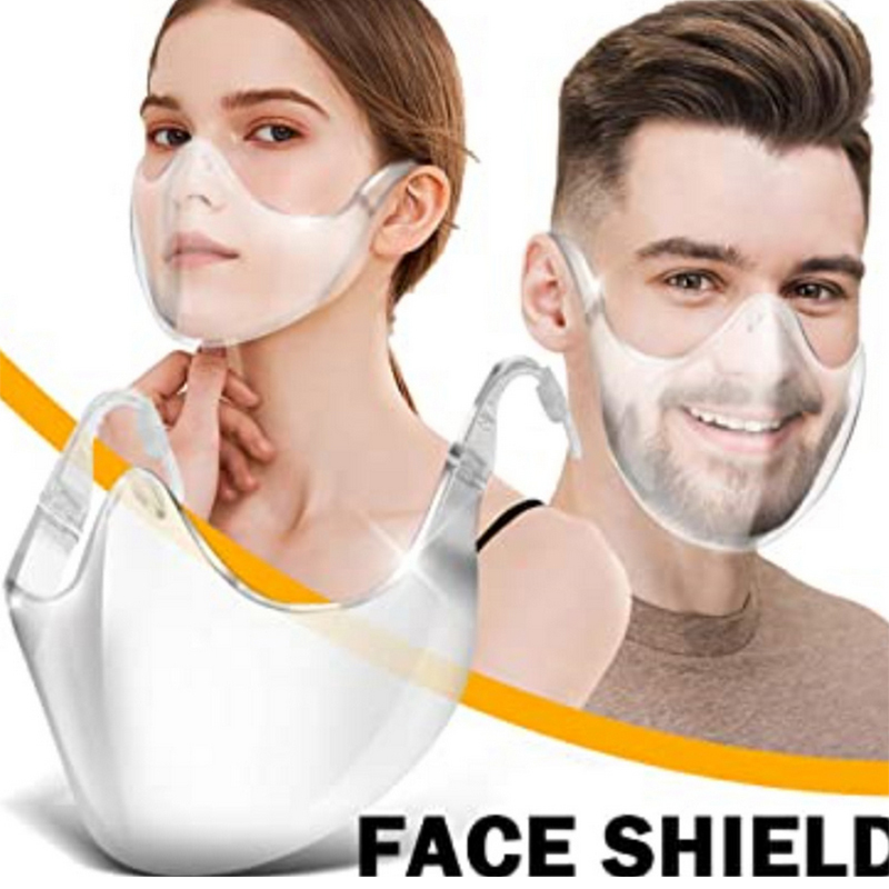 1PC Transparent Face Mask With Lanyard Reusable Washable Anti Dust Anti Splash Outdoor Cycling Half Cover Face Shield TSLM1 6