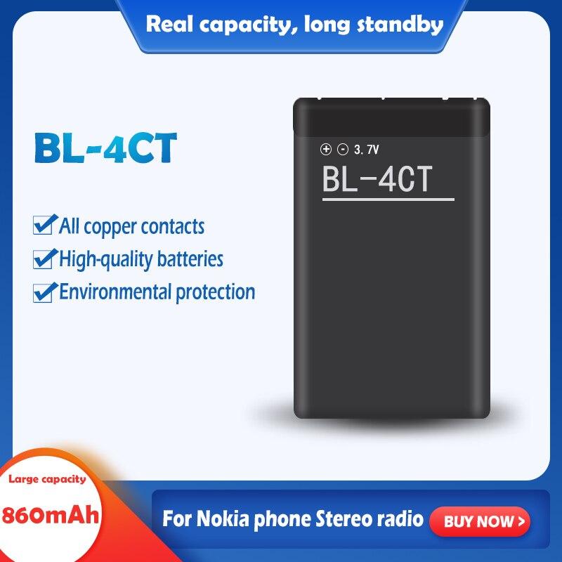 3.7V 860mAh akumulator litowo-jonowy BL-4CT BL4CT BL 4CT dla Nokia 7210S 7310C 6700S 7230 X3 X3-00 2720A 3720 6702S 5300XM 6730C