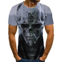 Summer Men T-Shirts Casual O-Neck Short Sleeve Harajuku Tee Tops Hip Hop Style Clothes Fashion StreetwearSkull 3D T Shirt Male