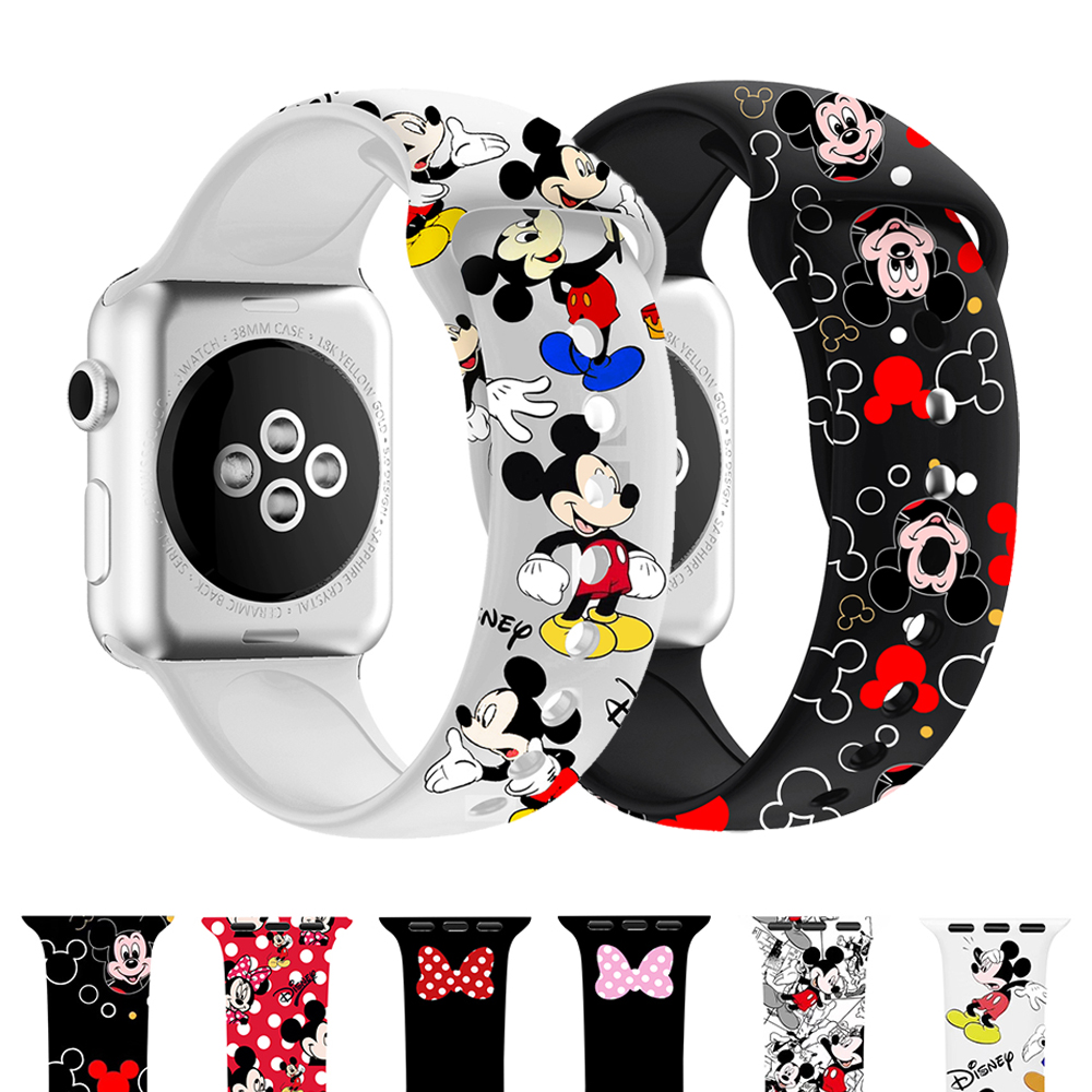 Woman Strap For Apple Watch Band 40mm 44mm Iwatch Band 38mm 42mm Silicone Bracelet Correa Apple Watch 5 4 3 38 42 40 44 Mm