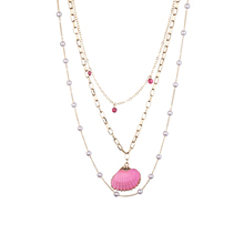 Fashion Trendy Pearl Necklace Beautiful Multi-layer Novel Natural Shell Pendant