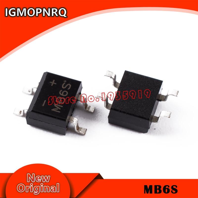 15 Pcs MB6S 0.5A 600V Miniature Mini SMD Bridge Rectifier New