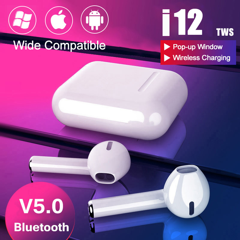 <font><b>i9s</b></font> i12 Tws Headphone Wireless <font><b>Bluetooth</b></font> <font><b>5.0</b></font> <font><b>Earphone</b></font> Mini Earbuds With Mic Charging Box Sport Headset For Xiaomi Redmi iPhone image