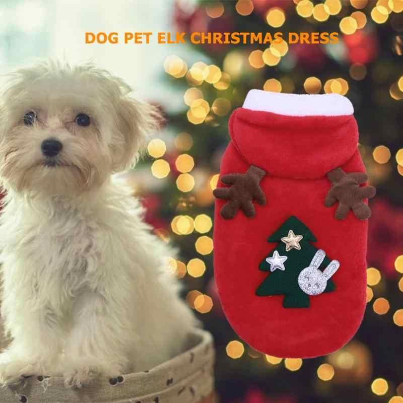 Di natale Vestiti Del Cane Cani di Piccola Taglia Costume della Santa per le Pug Chihuahua Yorkshire Pet Gatti, Abbigliamento Giacca Cappotto Animali Costume