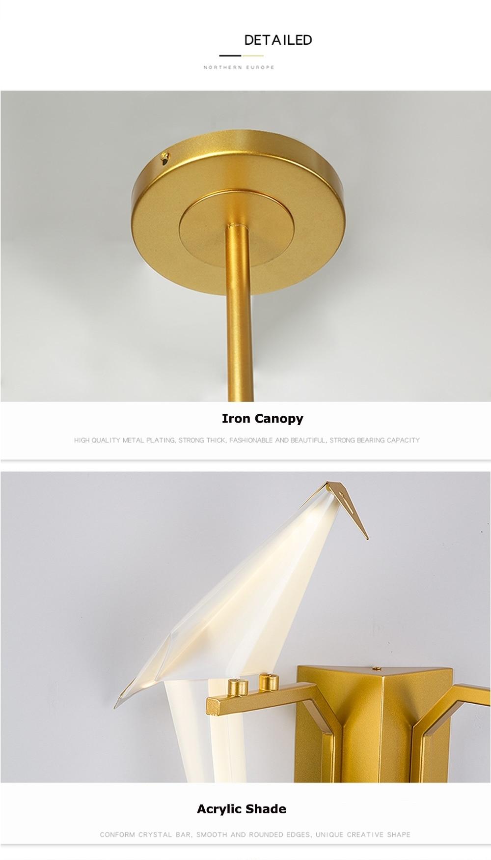 H3dc23b591b8649eeaedc68b05681e70eD - LED Postmodern Iron Acryl Love Bird LED Lamp LED Light Wall lamp Wall Light Wall Sconce For Bedroom Corridor