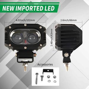 """Image 4 - CO LIGHT 12D Car Led Work Light Bar 4"""" 96W Spot Flood Beam LED Work Lamp for Motocycle Niva SUV Trucks Boat 4x4 Led Bar 12V 24V"""