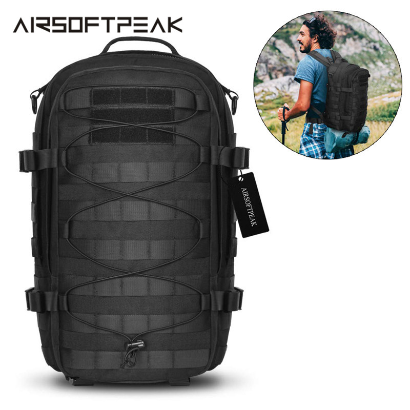 1000D Outdoor Backpack 25L Military Assault Pack Tactical Molle Rucksack Climbing Traveling Laptop Shoulder Bag EDC Bags Hunting image