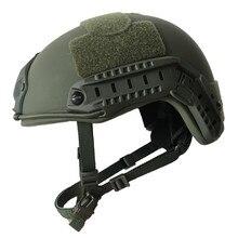 Taktik kurşun geçirmez hızlı kask NIJ seviye IIIA 3A Aramid yüksek kesim balistik kask ISO sertifikalı askeri Paintball ekipmanları