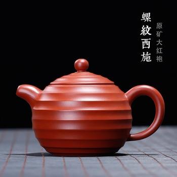 Yixing Zisha tea set, raw ore, Dahongpao thread, Xishi pot, rib ware, Zisha pot, all manual wholesale agent