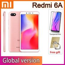 Xiaomi redmi 6a smartphone 3gb 32gb google play celular helio a22 processador com quadro global 3000mah face desbloquear