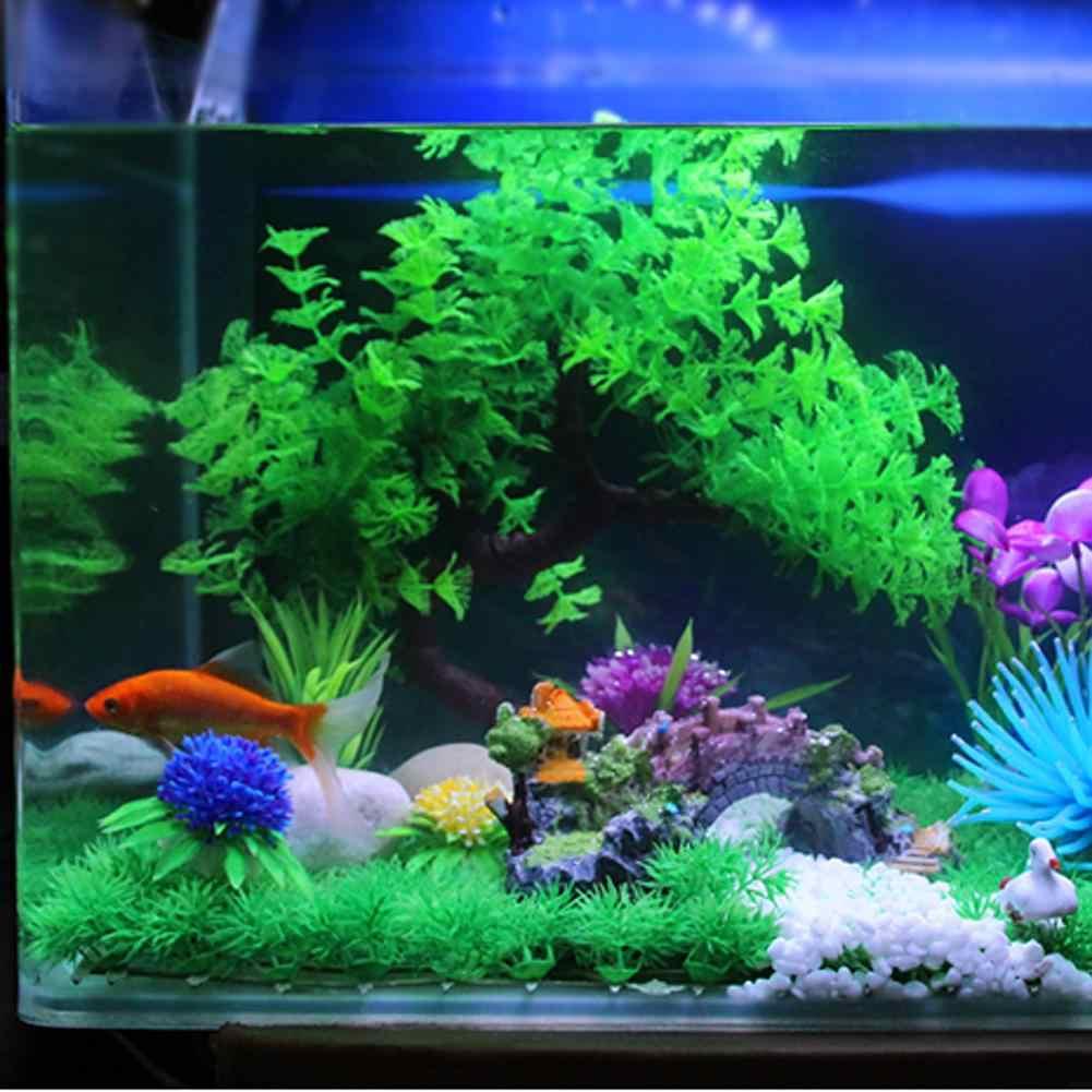 30 centimetri Verde Artificiale di Plastica Erba Pianta Anti-corrosione Acquario Aquarium Ornament Decor