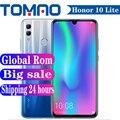 Официальный Смартфон Honor 10 Lite с глобальной прошивкой, Android 9, HiSilicon Kirin 710, 4 Гб, 6 ГБ ОЗУ, 64 ГБ, 128 Гб ПЗУ, камера 13 МП, Google Play