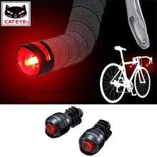 CATEYE spina per barra da ciclismo luci di sicurezza Barend per bicicletta luce per manubrio per bici estremità della barra di avvertimento luci Flash accessori per lampade 2PC