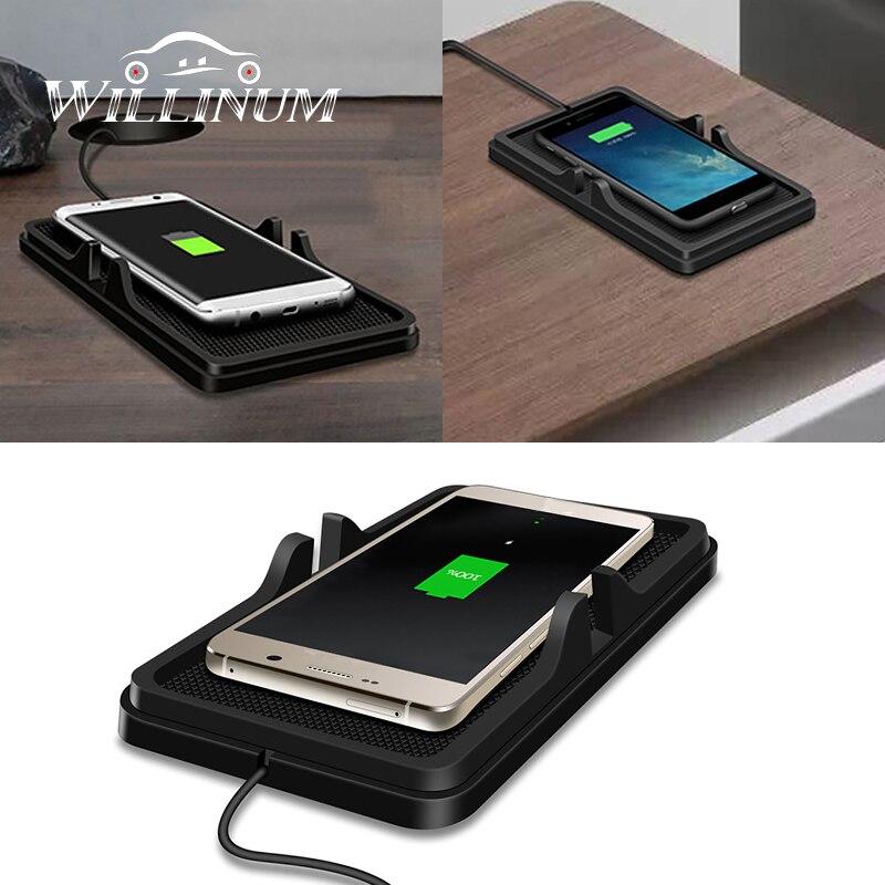 QI auto drahtlose schnelle ladegerät für W204 W205 W212 W213 W176 Mercedes Benz Amg drahtlose ladegerät telefon halter non- slip stehen