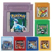 O clássico da série do poke recolhe o cartão colorido do console do cartucho do jogo de vídeo da versão inglês/língua espanhola para nintendo gbc