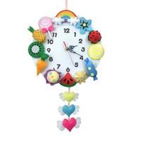 Reloj de pared divertido para niños, juguetes educativos de aprendizaje hechos a mano, manualidades, decoración del hogar, regalos de Navidad, decoración del hogar