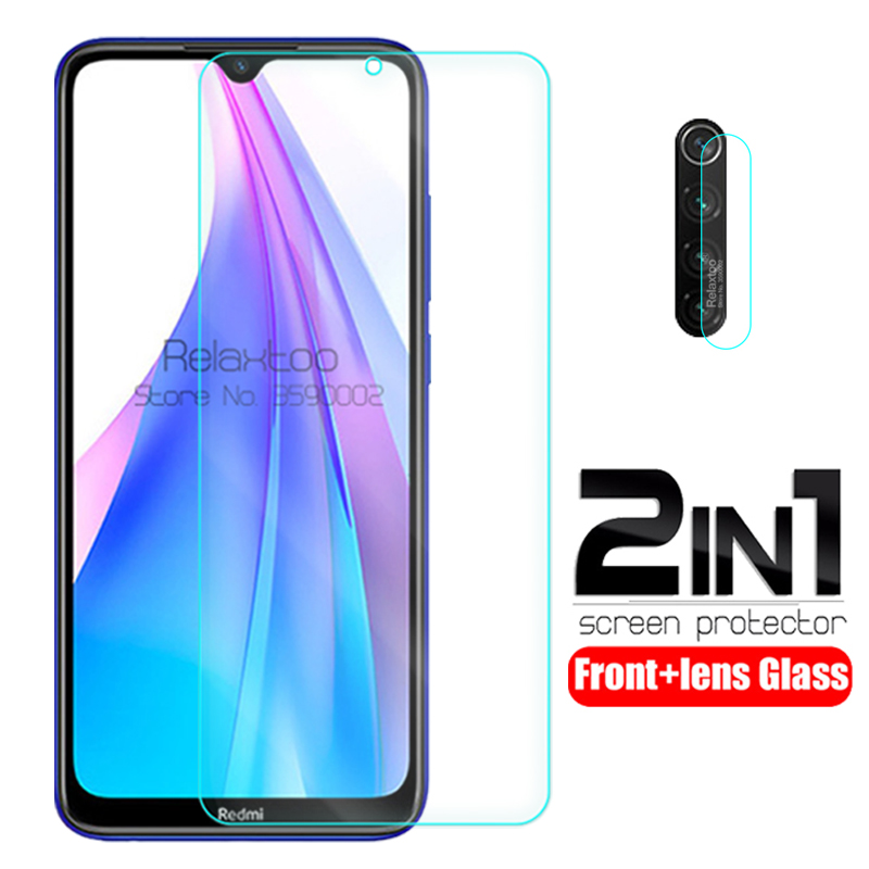2 In 1 Camera Lens Glass Redmi Note 8T Tempered Glas Screen Protector For Xiaomi Redmi Note 8T 8 T Note8T Safety Protective Film