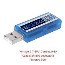 USB OLED Tester Voltmeter Ammeter Power Capacity Meter Voltage Current MonitorsDrop ship qc2 0 quick charge 4 20v usb capacity detector voltmeter ammeter power tester meter current usb power bank