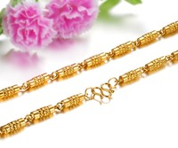 HT 16 Gold Necklaces for Women Men Figaro Hammered Snake Curb Gold Filled Men and Women Necklace Chain Fashion Jewelry