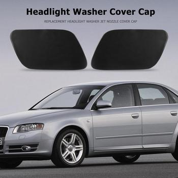 Headlight Washer Cover for Audi A4 B7 2005-2009 ABS Jet Nozzle Cap Durable Black Automobiles Replacement Accessories image