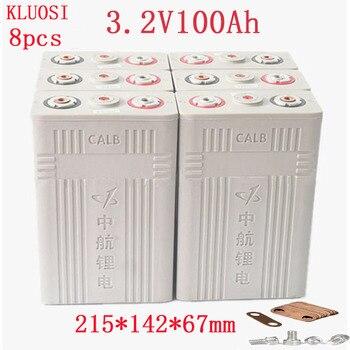 Baterías de celda de litio y hierro y fosfato Lifepo4 de 3,2 v y 100Ah, nuevas baterías de plástico CALB ca100 12v200AH 24V100AH para RV solar, 8 Uds.