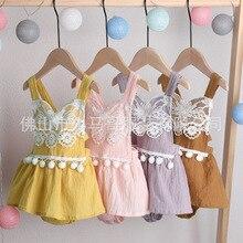 Летнее Боди без рукавов для новорожденных девочек, платье-пачка с открытой спиной